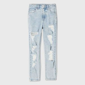 Wild and Fable High-Rise Distressed Mom Jeans